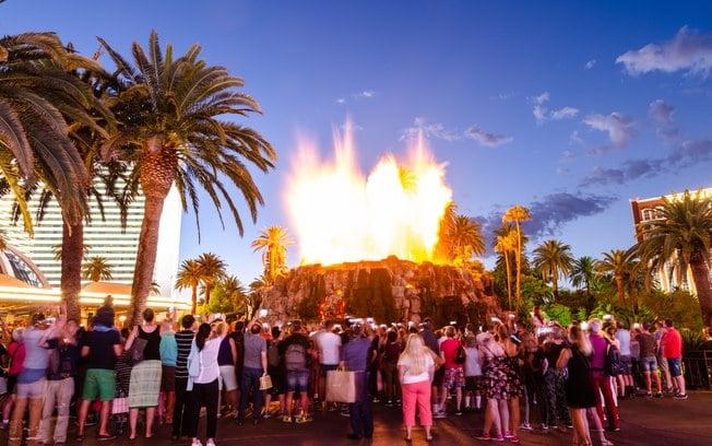 Las Vegas Erupting Volcano