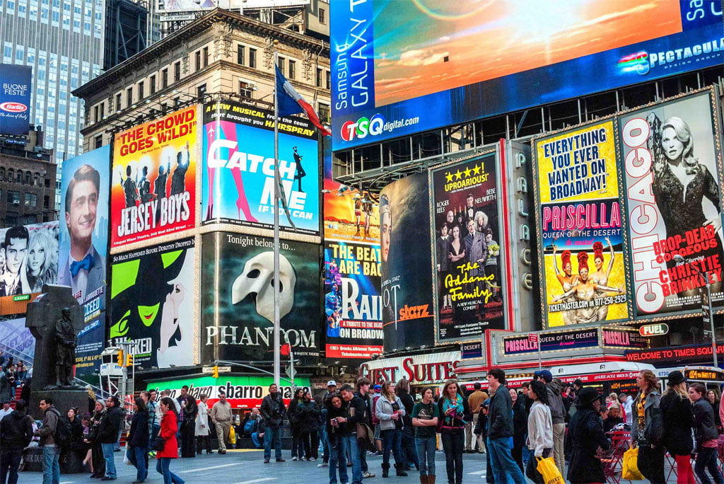 Broadway and the Theatre District, New York